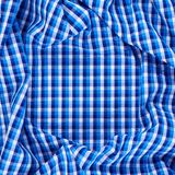 Wrinkled squared cloth fabric Stock Photography