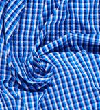 Wrinkled squared cloth fabric Royalty Free Stock Photography
