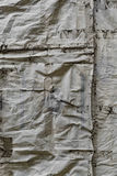 Wrinkled Tarpaulin Covering Stock Image