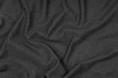 Wrinkled texture of black fabric Royalty Free Stock Photo