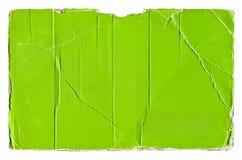 Green torn corrugated cardboard Stock Image