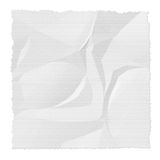 Wrinkled and torn paper on white background. Texture Stock Photography