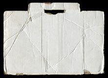 White torn corrugated cardboard Stock Images