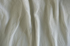 Wrinkled white cloth Stock Images