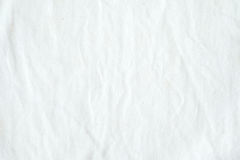 Wrinkled white cotton fabric texture background, wallpaper Stock Photography
