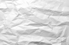 Wrinkled White Paper. A piece of wrinkled blank white paper Royalty Free Stock Images