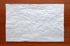 Wrinkled White paper Stock Images