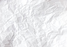 Wrinkled white paper Royalty Free Stock Image