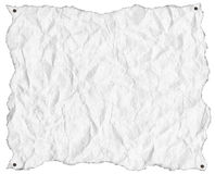 Wrinkled White Paper with Nails Stock Image