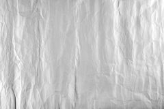 Wrinkled white paper sheet background Close up.  Royalty Free Stock Photo