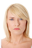 Wrinkled woman Stock Photo