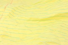 Wrinkled Yellow Legal Paper Background Royalty Free Stock Images