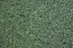 Wrinkled zerknitterte Oberflächenbeschaffenheit - dunkelgrünes abstraktes backgrou lizenzfreie stockfotos