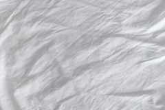 Wrinkles on crumpled white cotton sheets textire Royalty Free Stock Photography