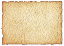 Wrinkly old paper sheet. Royalty Free Stock Image