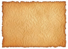 Wrinkly old paper sheet. Digital graphic, high quality. XXL size Stock Image