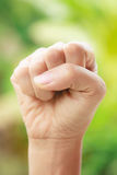 Wrist. Against  green nature background Stock Images