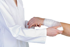 Wrist bandaging Royalty Free Stock Photo