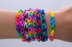 Wrist Bands. Lovely colors always with you Royalty Free Stock Images