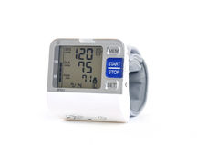 Wrist blood pressure monitor Stock Photography