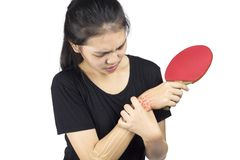 Wrist bones injury royalty free stock photo