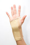 Wrist with brace support Stock Photos