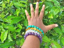 Wrist bracelets royalty free stock photography