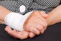 Wrist contusion Stock Photo