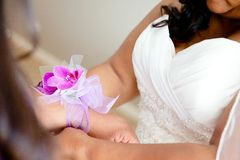 Wrist Corsage Stock Images