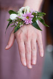 Wrist corsage prom stock photography
