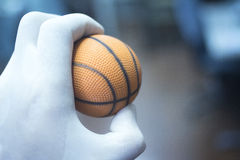 Wrist finger hand strength physiotherapy ball Stock Image