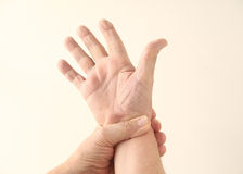 Wrist pain Royalty Free Stock Photography