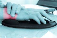 Wrist pain/carpal tunnel royalty free stock photos