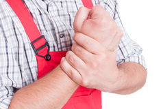 Wrist pain concept Royalty Free Stock Photography