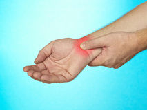 Wrist pain. Royalty Free Stock Image