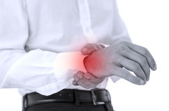 Wrist pain Stock Image
