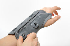 Wrist stabilizer. Shoot in studio Royalty Free Stock Image