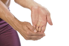 Wrist stretch Royalty Free Stock Images