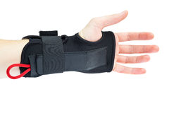 Wrist support with hand isolated Royalty Free Stock Image