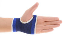 Wrist Support. Isolated on white background royalty free stock photography