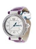 Wrist watch. Ladies luxury wrist watch on white background Royalty Free Stock Photography