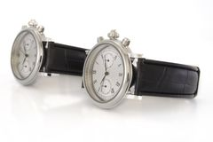 Wrist-watch. Two wrist-watch with strap isolated on white Stock Image