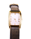 Wrist watch. Close-up - isolated background royalty free stock photography