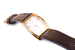 Wrist watch. Close-up - isolated background royalty free stock photo