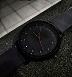 Wrist watch black rubber strap royalty free stock images