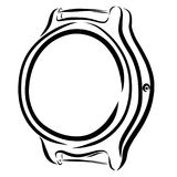 Wrist watch with blank display, without strap royalty free illustration