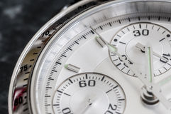 Wrist watch Chronograph. Close up shot a chronograph wrist watch Stock Photos