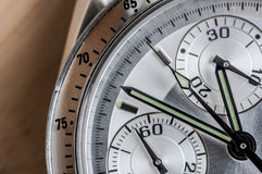 Wrist watch Chronograph. Close up shot a chronograph wrist watch Royalty Free Stock Photos