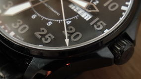 Wrist Watch clous up background stock video