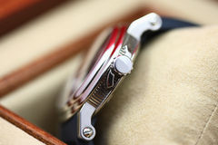 Wrist watch details royalty free stock images